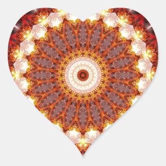 Mandala ement fire created by Tutti Heart Sticker