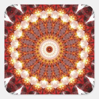 Mandala ement fire created by Tutti Square Sticker