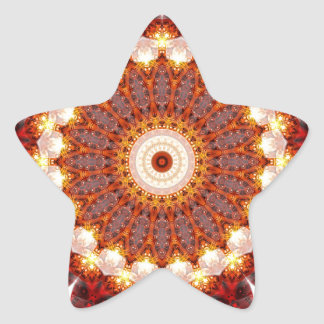 Mandala ement fire created by Tutti Star Sticker