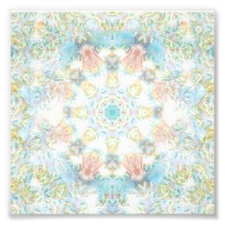 Mandala en colores pastel de la flor fotografía
