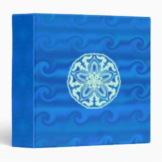 Mandala en ondas azules, carpeta del dólar de aren