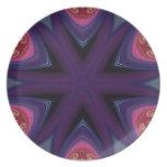 Mandala en púrpura y rosa plato de comida