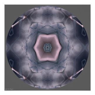 Mandala encadenada del caleidoscopio del vórtice posters