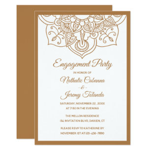 Indian Engagement Party Invitations Zazzle