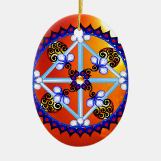 Mandala equinox ceramic ornament