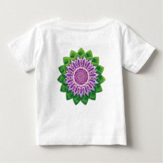 Mandala espiral de la flor playera para bebé