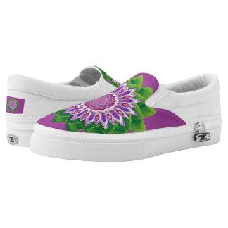 Mandala espiral de la flor zapatillas