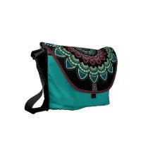 Mandala ethnic small messenger bag