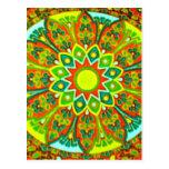 Mandala étnica de la mirada de Earthtone Tarjetas Postales