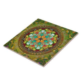 Mandala Evergreen Tile