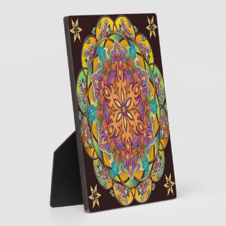 Mandala Exotica Plaque with Easel