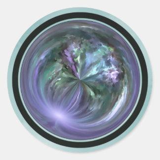 Mandala, extracto colorido del movimiento del pegatinas redondas