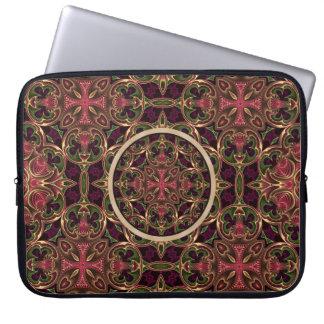 Mandala, extracto cruzado caleidoscópico de la funda computadora