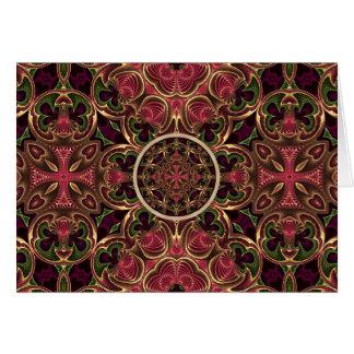 Mandala, extracto cruzado caleidoscópico de la tarjeta de felicitación