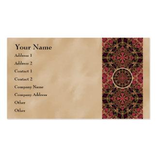 Mandala, extracto cruzado caleidoscópico de la tarjetas de visita