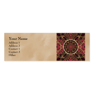 Mandala, extracto cruzado caleidoscópico de la tarjetas de visita mini