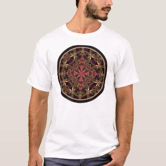 Mandala, extracto cruzado caleidoscópico playera