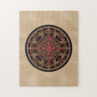 Mandala, extracto cruzado caleidoscópico puzzle