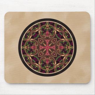 Mandala, extracto cruzado caleidoscópico tapete de raton