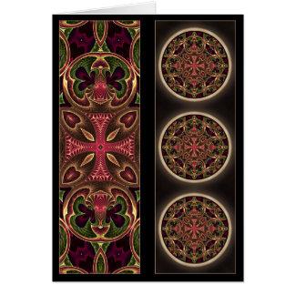 Mandala, extracto cruzado caleidoscópico tarjeta de felicitación