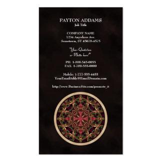 Mandala, extracto cruzado caleidoscópico tarjetas de visita