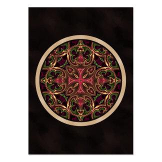 Mandala, extracto cruzado caleidoscópico tarjetas de visita grandes