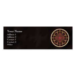 Mandala, extracto cruzado caleidoscópico tarjetas de visita mini