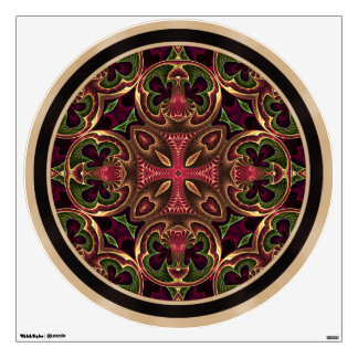 Mandala, extracto cruzado caleidoscópico vinilo adhesivo
