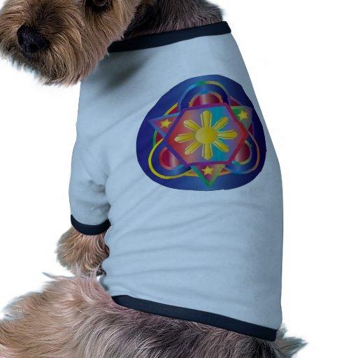 Mandala filipina del arco iris camiseta con mangas para perro