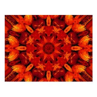 Mandala 'Fire' Postcard