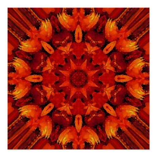 Mandala 'Fire Poster