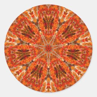 Mandala Flames 1 Classic Round Sticker