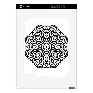 Mandala flor de 6 velas iPad 2 skin