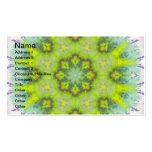 Mandala floral de la acuarela del paisaje tarjeta de negocio