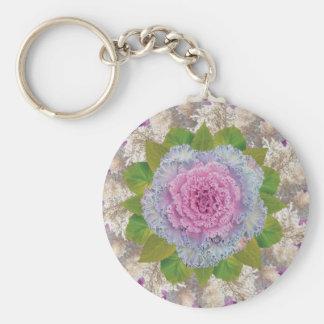 Mandala floral de la caída llaveros