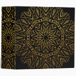 """Mandala floral del oro y del copo de nieve tribal carpeta 2"""""""