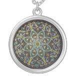 Mandala floral healing green selbst gestalteter schmuck