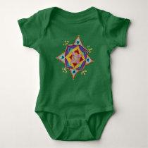 Mandala Floral Pattern Baby Jersey Bodysuit