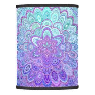 Purple flower lamp shades zazzle mandala flower in light blue and purple lamp shade mightylinksfo