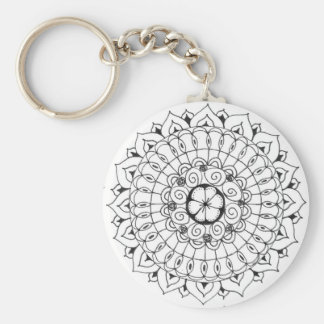 mandala - flower keychain