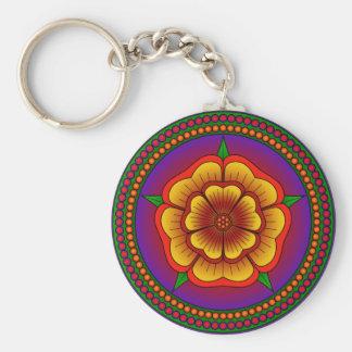 Mandala Flower Keychain