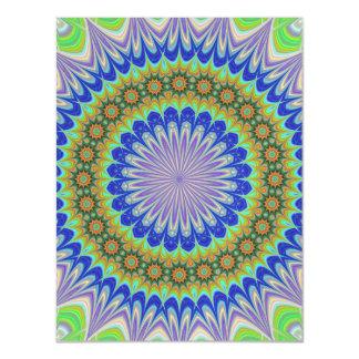 Mandala flower magnetic card