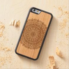 Mandala Flower On Wood I-phone Case at Zazzle