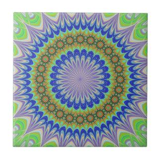 Mandala flower tile