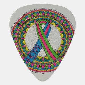 Mandala for Metastatic Breast Cancer Awareness Guitar Pick