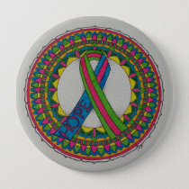 Mandala for Metastatic Breast Cancer Pinback Button