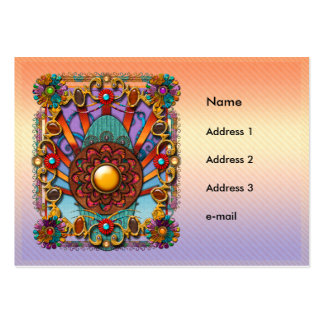 Mandala Four Large Business Cards (Pack Of 100)