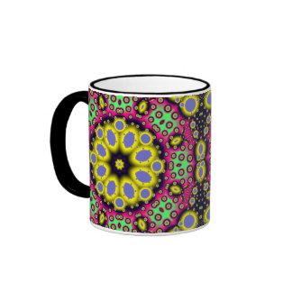 Mandala Fractal Pattern Series #2 Ringer Mug