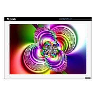 """Mandala Fractal Spinning Carousel 17"""" Laptop Decals"""