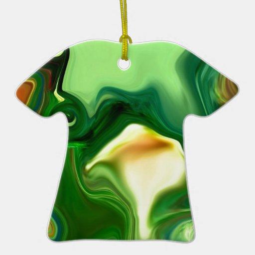 MANDALA FRACTAL TULIP Double-Sided T-Shirt CERAMIC CHRISTMAS ORNAMENT